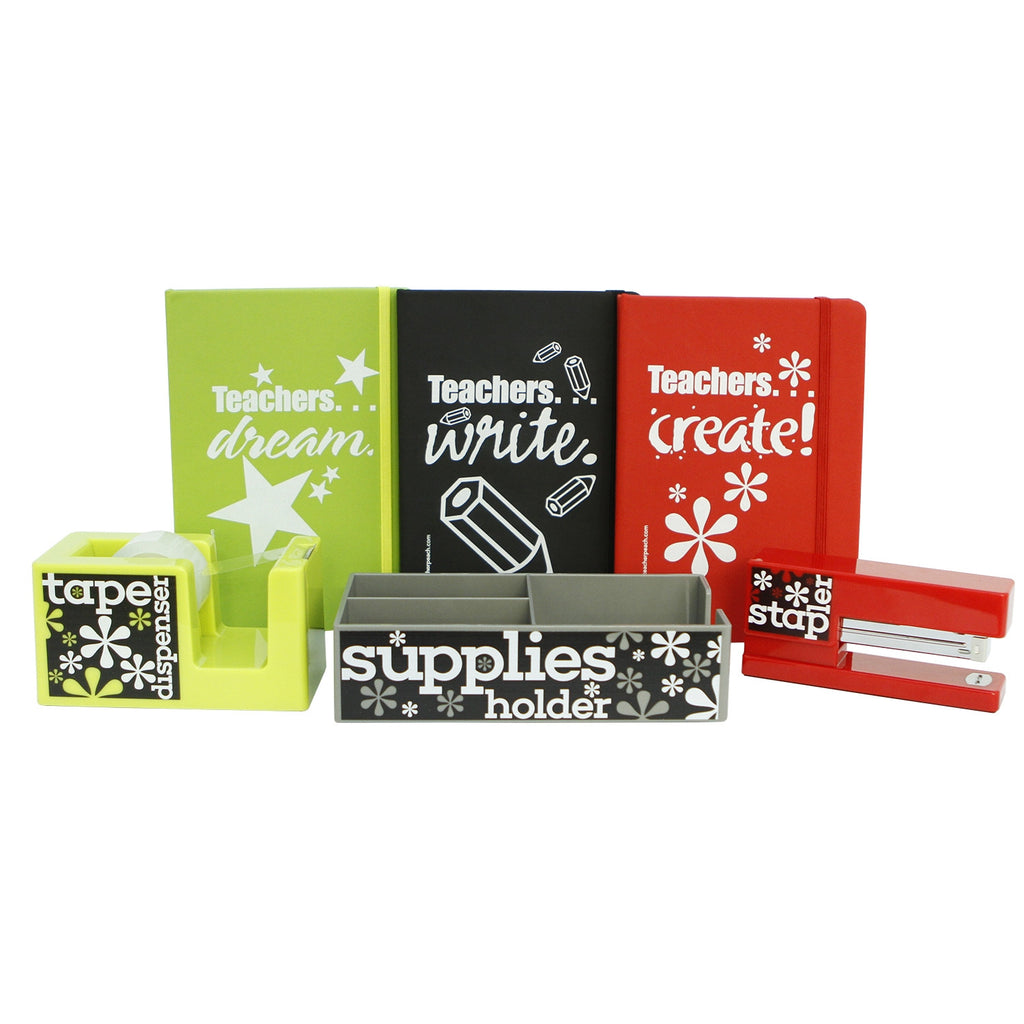 Teachers Do Amazing Things Color-Coded Desk Accessory Gift Set