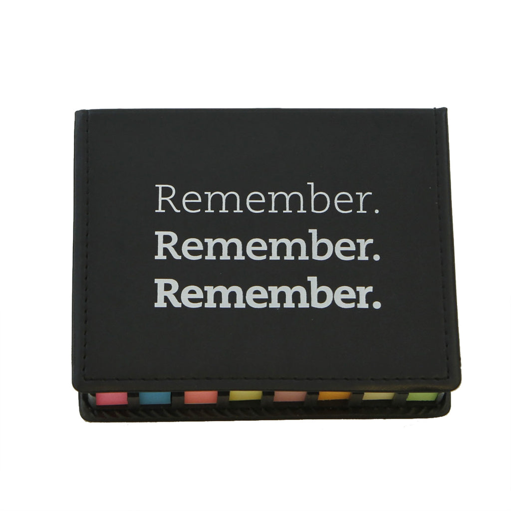 """Remember."" Flag and Self-Stick Note Set Desk Accessory"