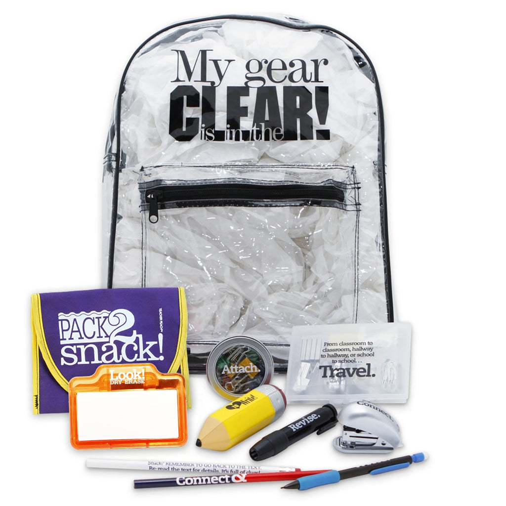 Gear-in-the-Clear Loaded Backpack
