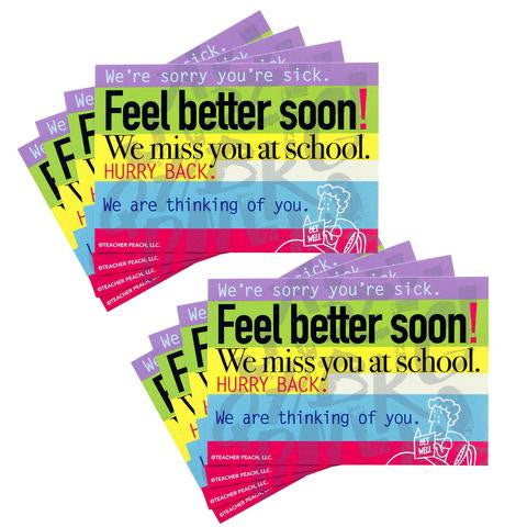 Feel Better Soon Postcards, Set of 2