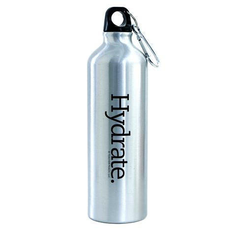 Hydrate. Stainless Steel Drink Bottle with Carabiner