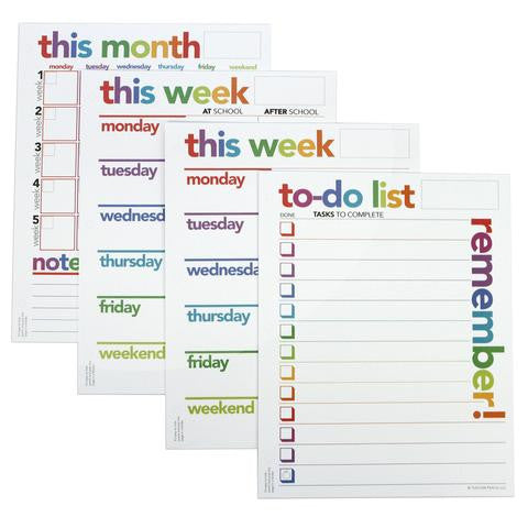 Organizer Notepad Set of 4