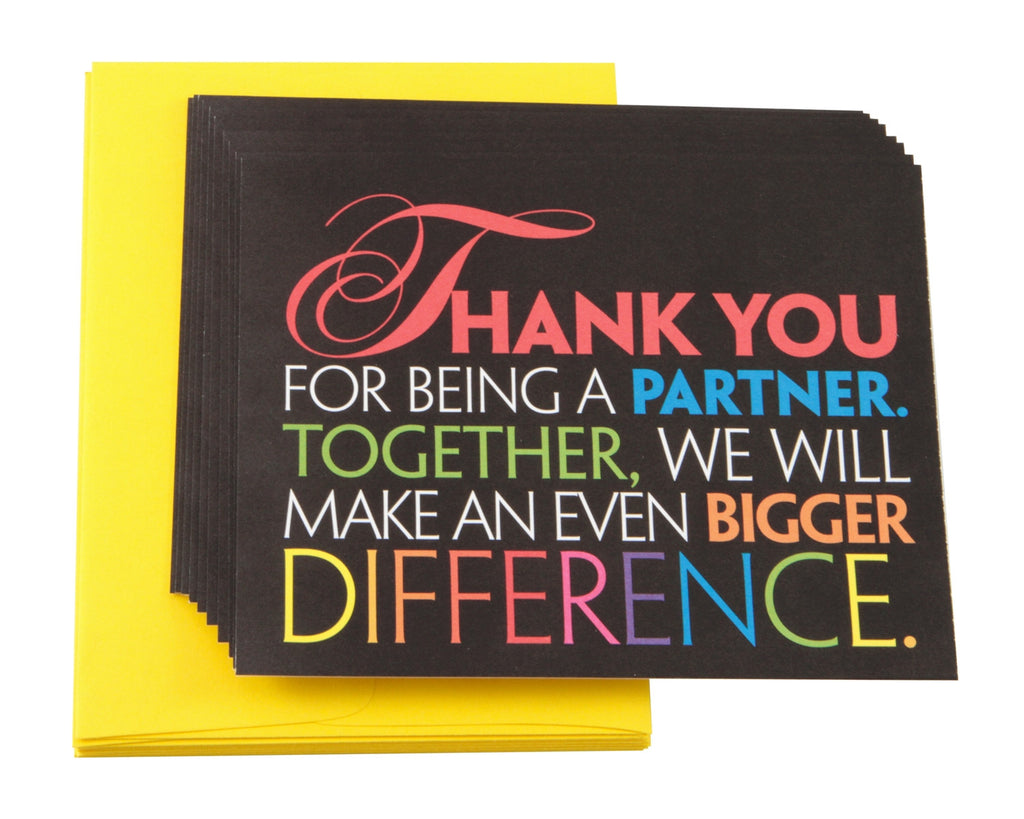 Partner Thank You Note Cards