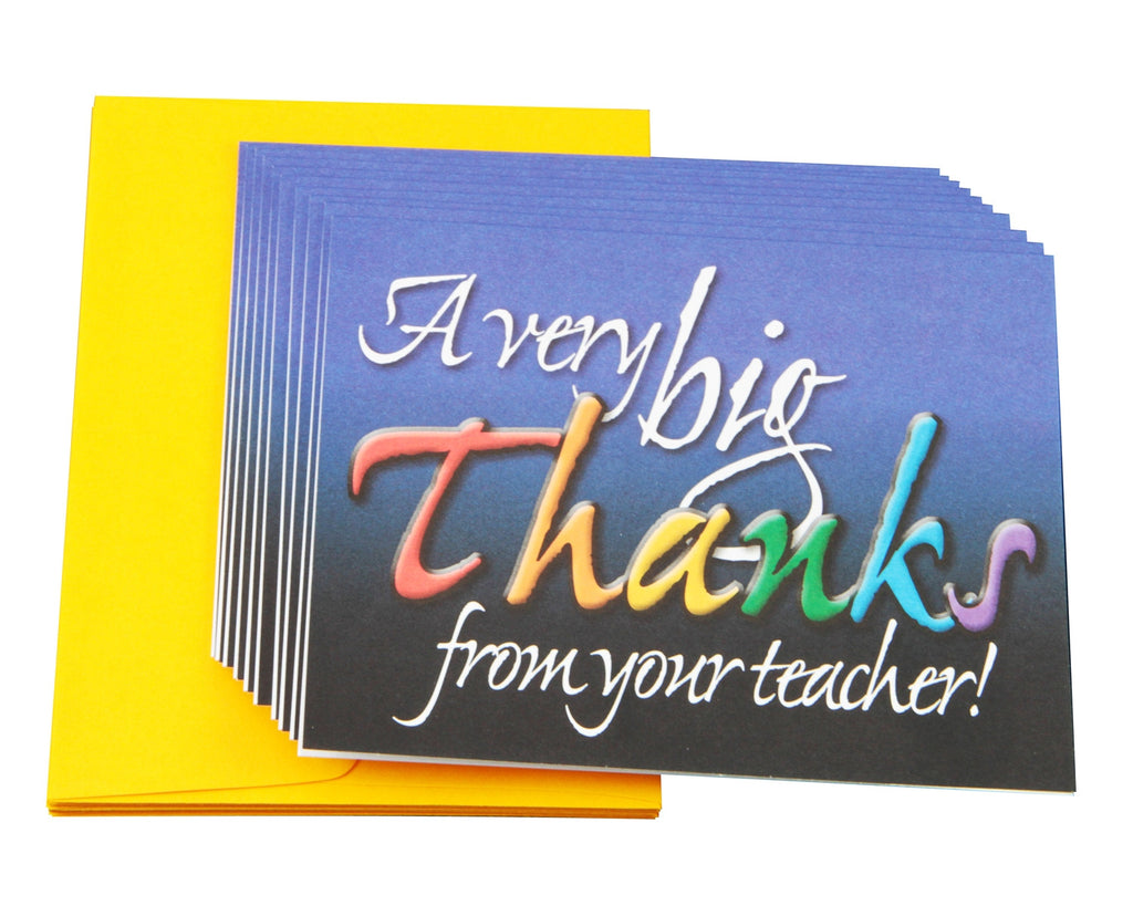 Thank You Note Cards in an Intermediate-Grade Motif