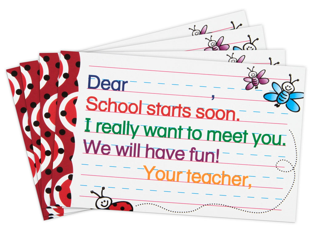 Back-to-School Postcards with Primary Triple Track Write-On Lines