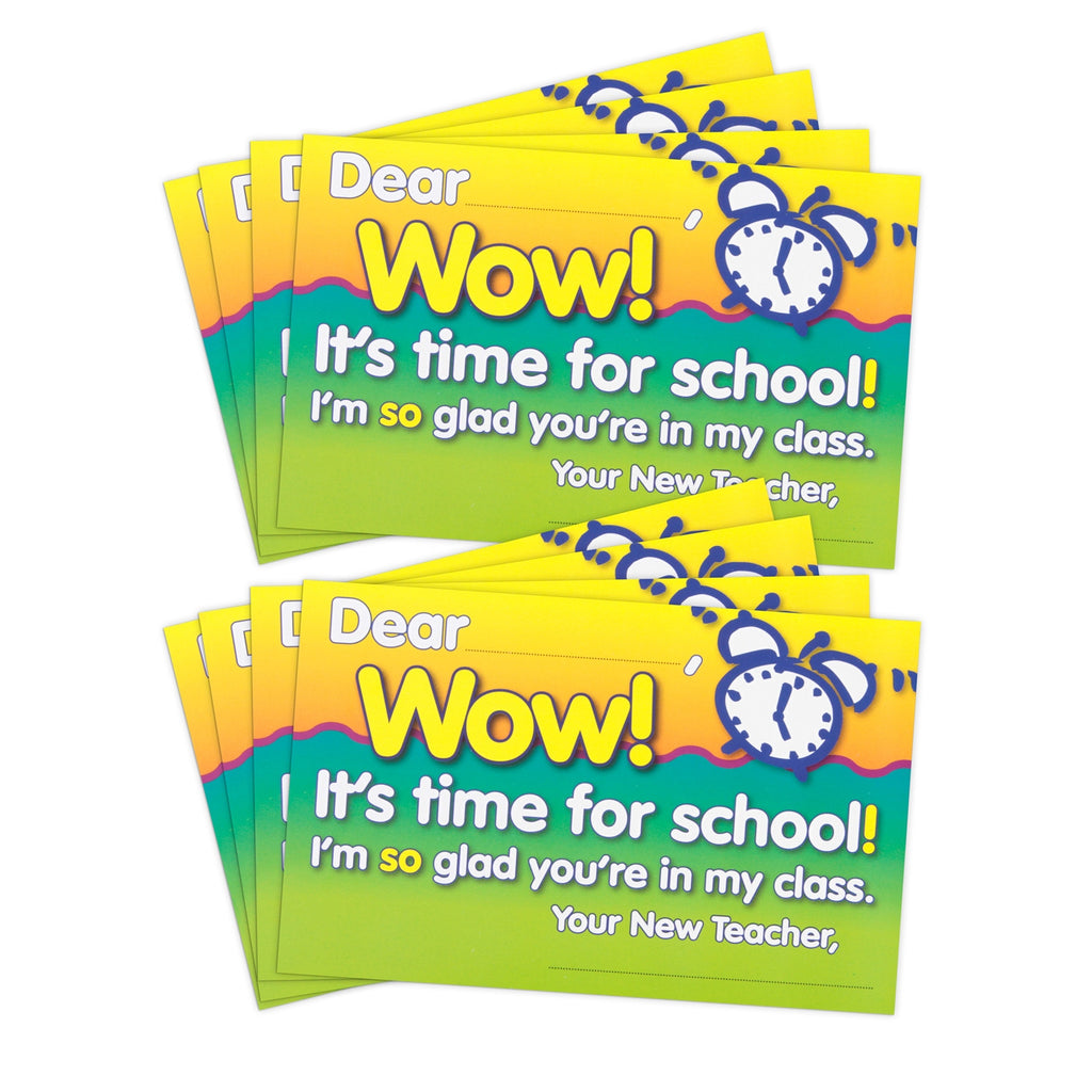 """Wow! It's time for school!"" Back-to-School Postcards"