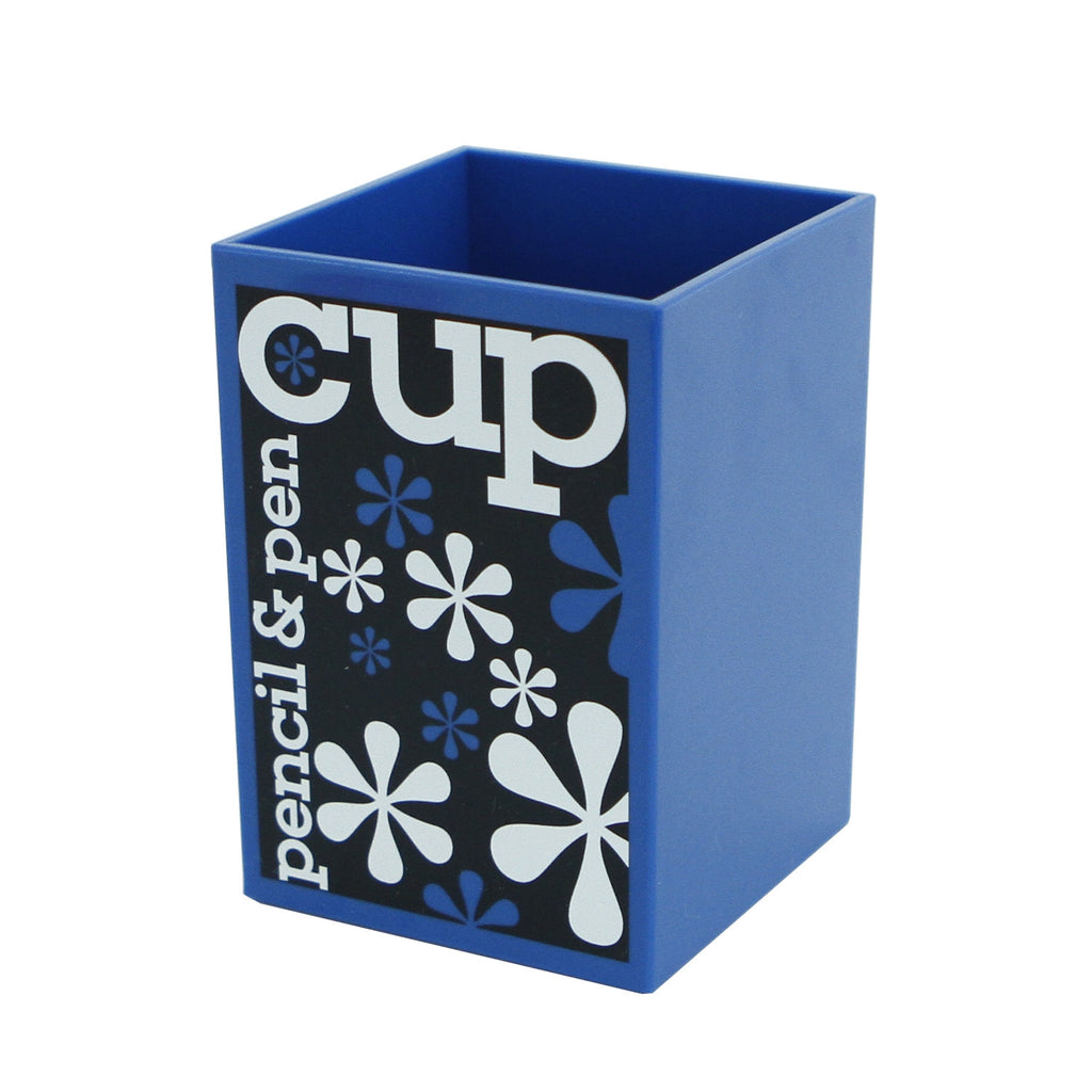 Pen and Pencil Cup: Modern Color- Rich Desk (Assorted Colors)