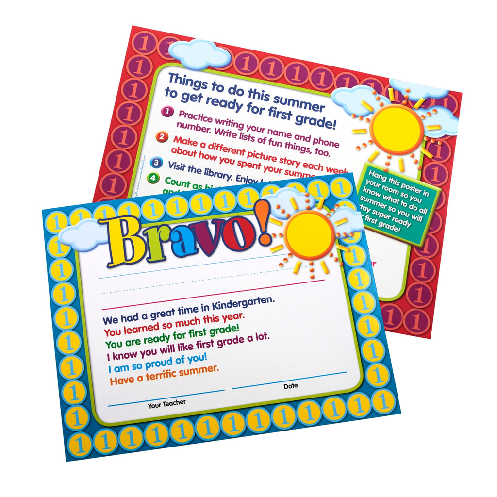 Moving-to-First-Grade End-of-Year Certificates/Mini-Posters