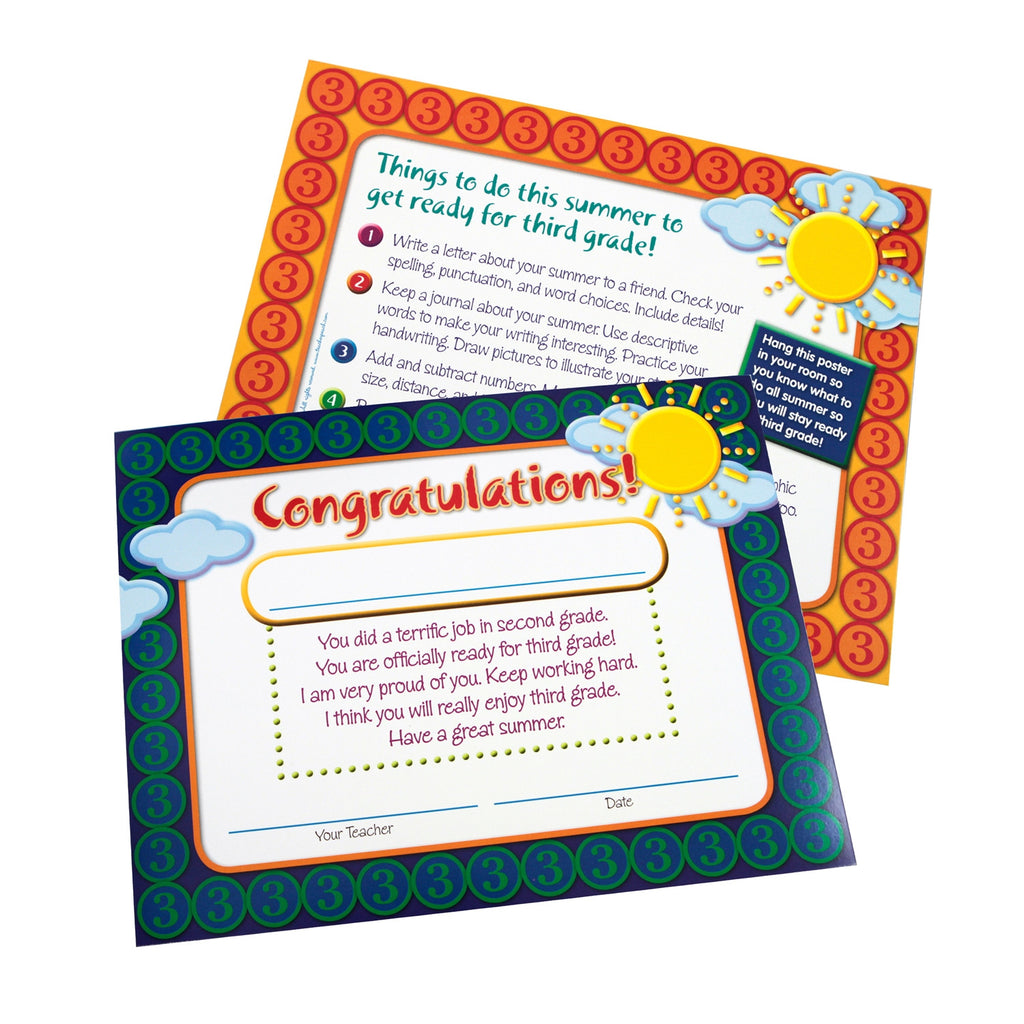 Moving-to-Third-Grade End-of-Year Certificates/Mini-Posters