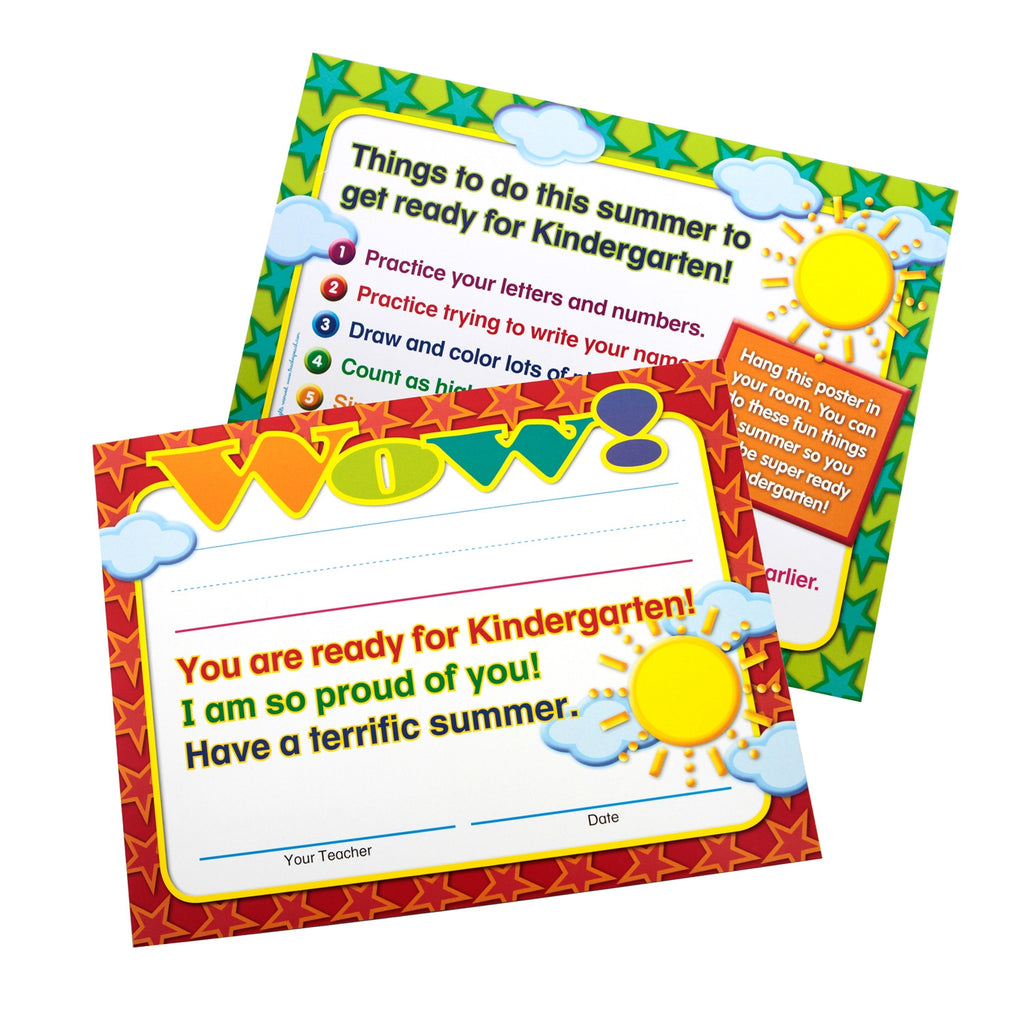 Moving-to-Kindergarten End-of-Year Certificates/Mini-Posters