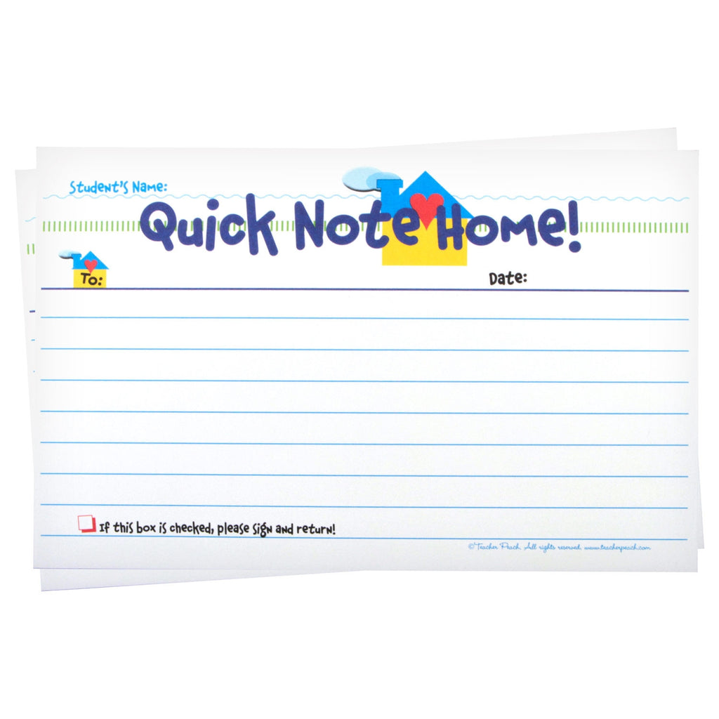 """Quick Note Home"" Keep-A-Copy NCR Lined Writing Tablets"