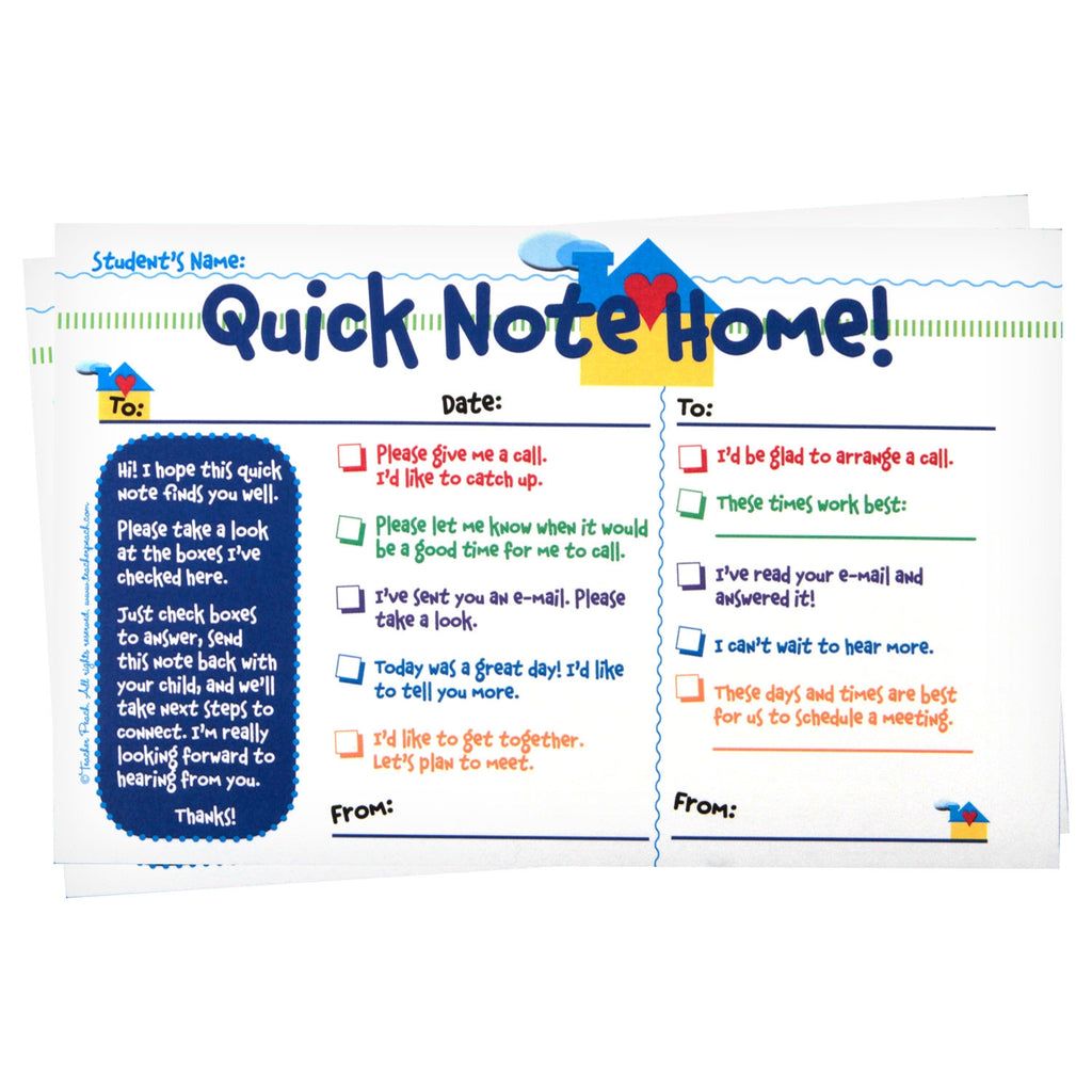 """Quick Note Home"" Keep-A-Copy NCR Checklist Tablets"