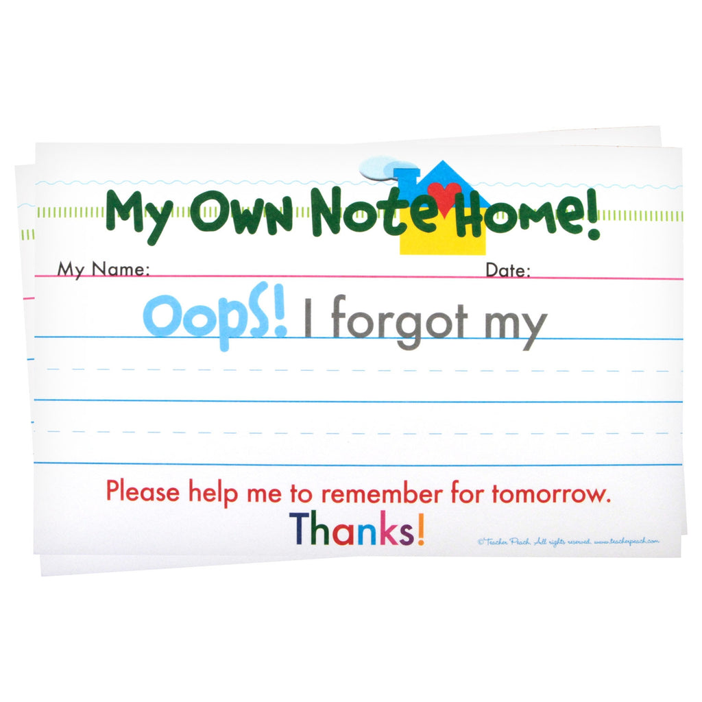 "My Own Note Home ""Oops!"" Tablets"