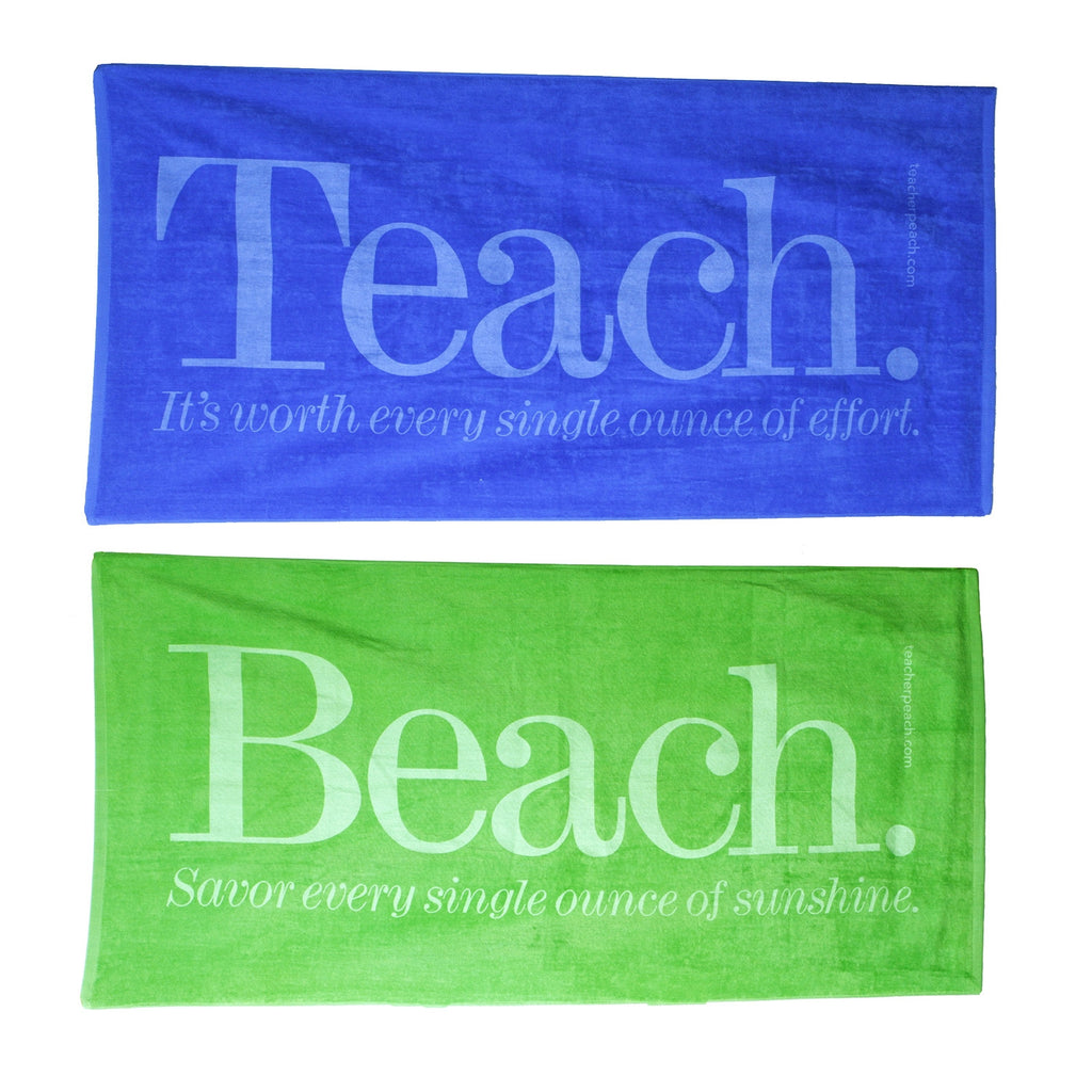 Teach and Beach Terry Velour Towels (assorted colors)