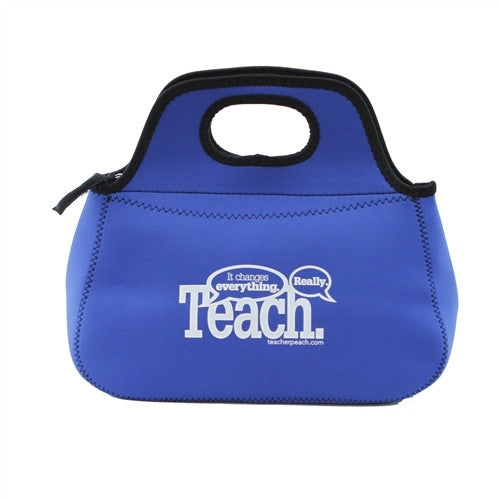 TEACH. It changes everything. Neoprene Zippered Lunch Bag (Assorted Colors)