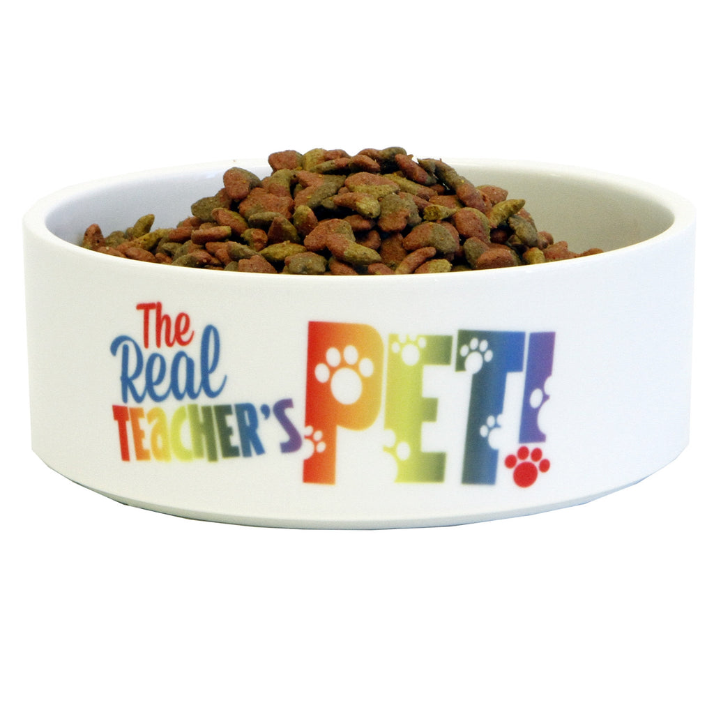 The Real Teachers Pet™ Ceramic Cat Bowl