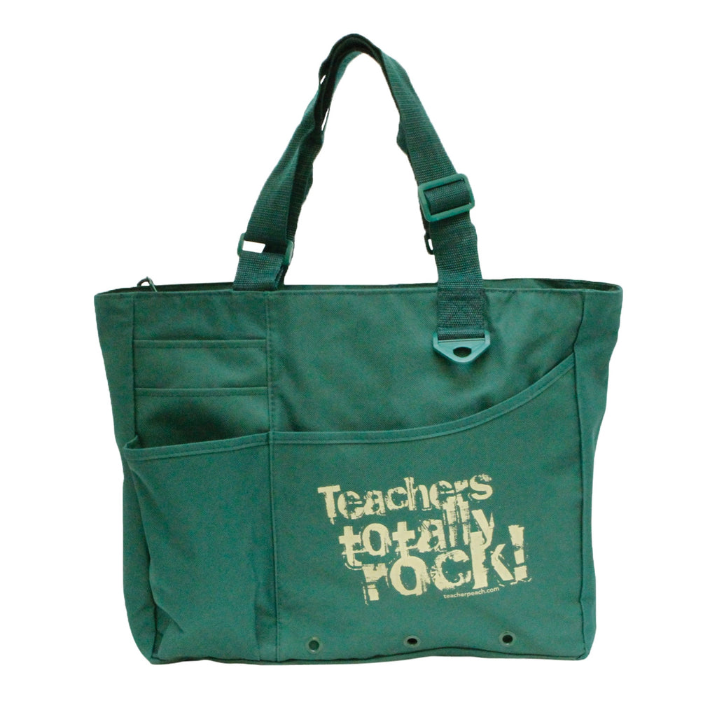 Teachers Totally Rock Tote Bag (assorted colors)