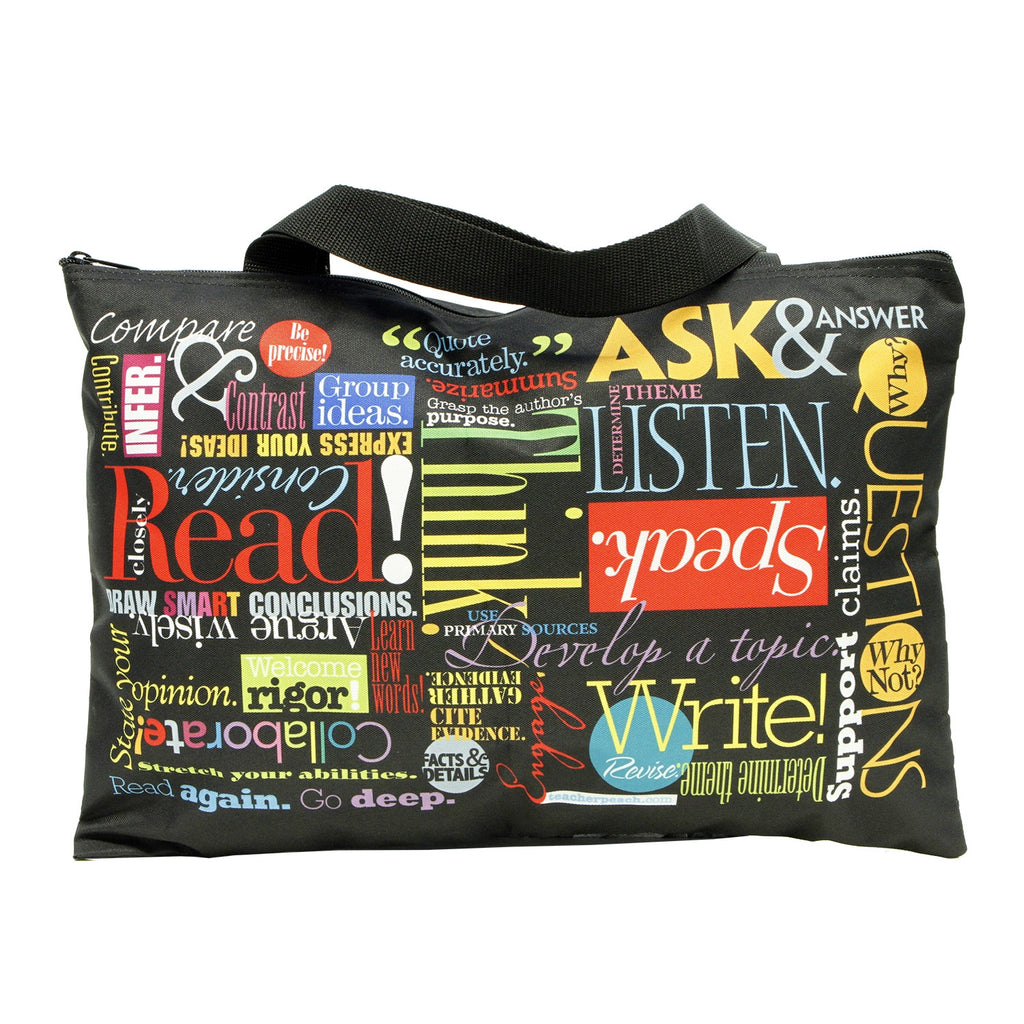 """Words to Grow By"" Every Learner's Zippered Tote Bag"