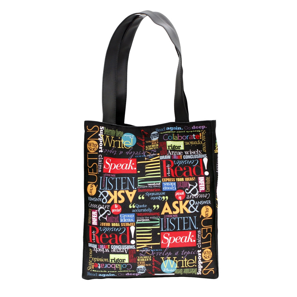 """Words to Grow By"" Vibrant Canvas Tote"
