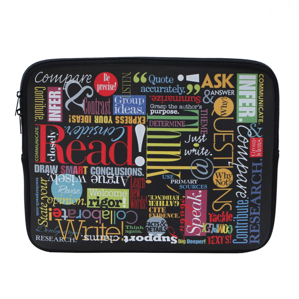 Words to Grow By Laptop Case with Zippered Closure