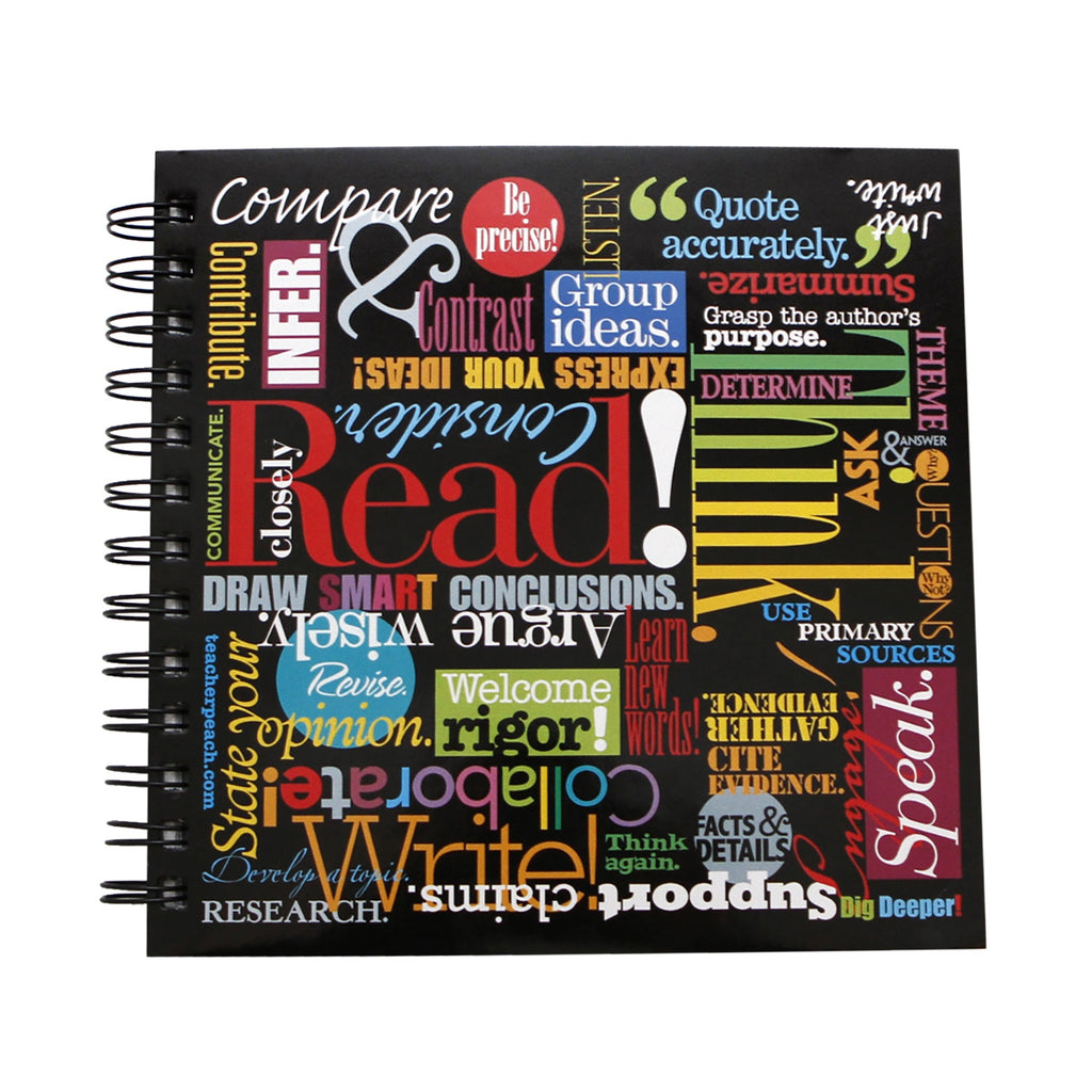 """Words to Grow By"" 7x7 Spiral Notebook Journal"