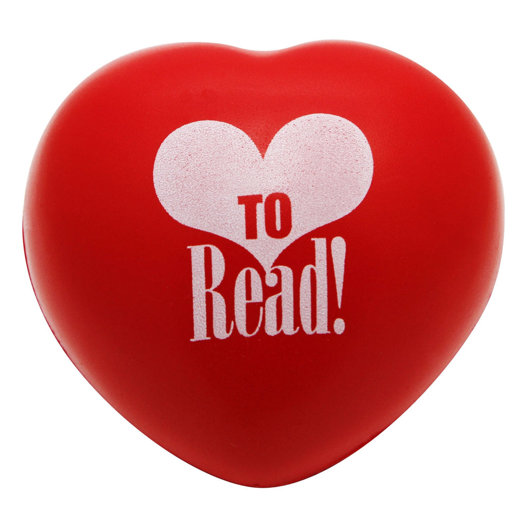 """Love to Read"" Heart-Shaped Stress Ball"