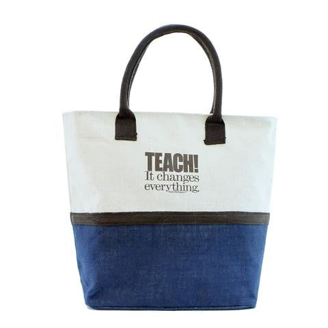 TEACH. It Changes Everything. Natural Tote Bag (Assorted Colors)