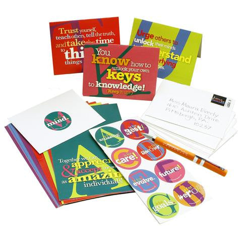 A-to-Z Sentiments Greeting Cards and Stickers Kit
