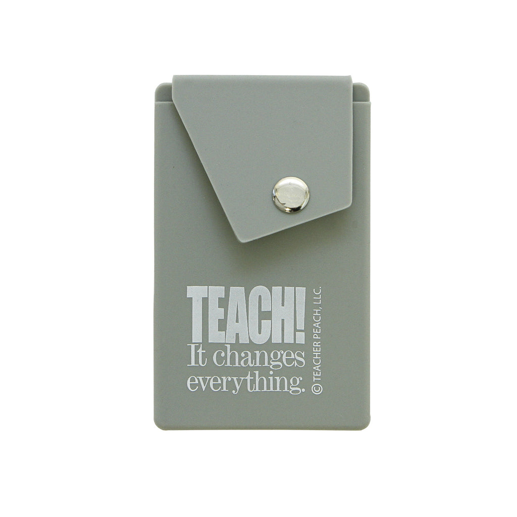 Teach! Cell Phone Silicone Card Case (Assorted Colors)