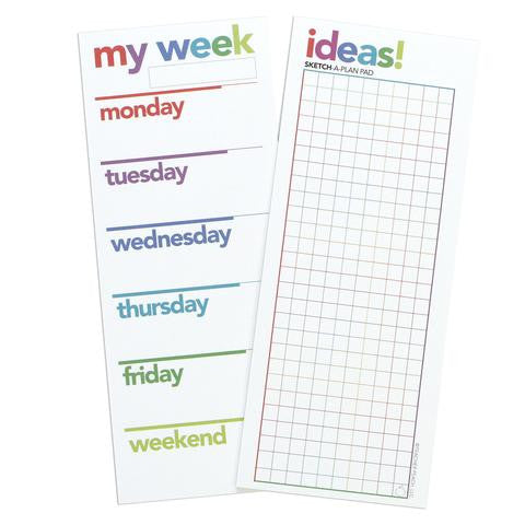 Organizer Notepad Set, My Week and Ideas