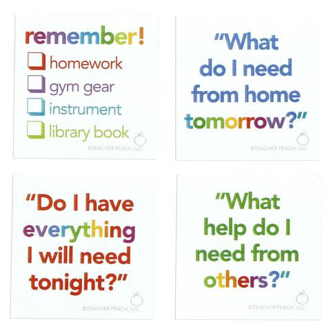 Reminder Sticky Note Pad Set