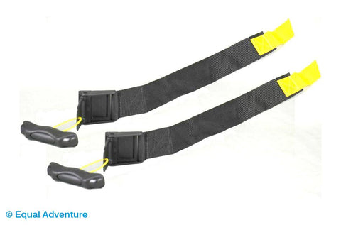 Image of Aquabac Adult Black Lap Straps (Yellow Tabs) Pair