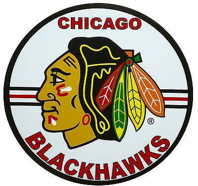 "Chicago Blackhawks 14"" Tin Sign"