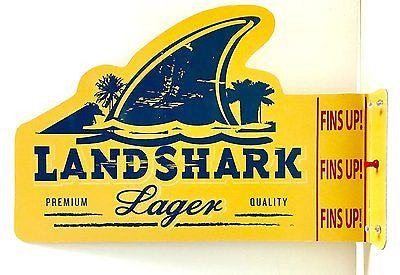 Landshark Doubled Sided Tin Pub Sign