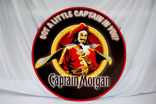 "Captain Morgan 36"" Tin Sign"