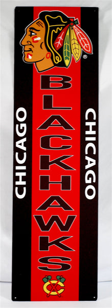 Chicago Blackhawks Tin Banner Sign