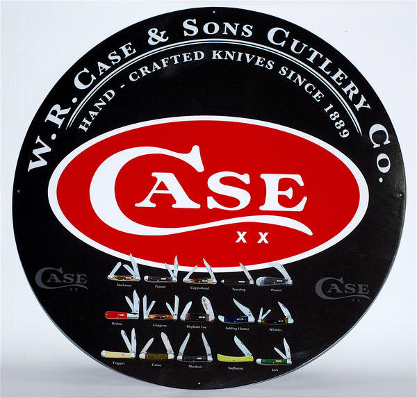 "Case XX Collectible 24"" Tin Sign"