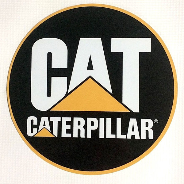 "Caterpillar ""Cat Logo"" 7"" Round Metal Sign"