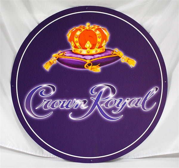 Crown Royal Round Aluminum Signs (three size options)