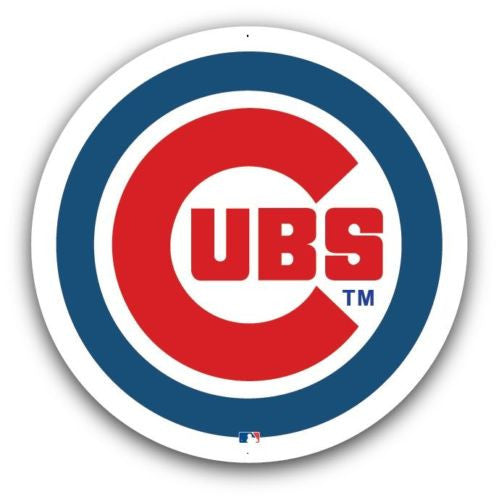 "Chicago Cubs 36"" Metal MLB Sign"