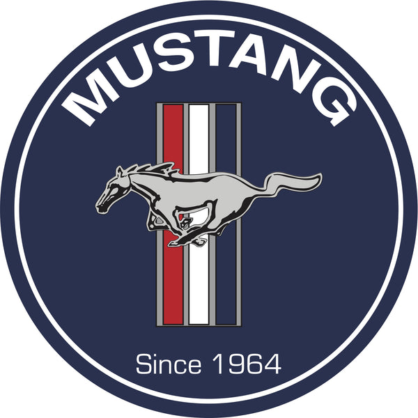 "Ford Mustang 7"" Round Metal Sign"