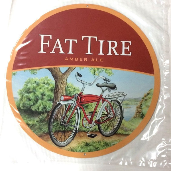 "Fat Tire - New Belgium Brewing - 12"" Metal Sign"
