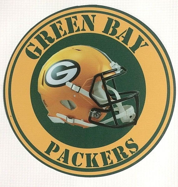 "Green Bay Packers NFL 7"" Round Metal Sign"