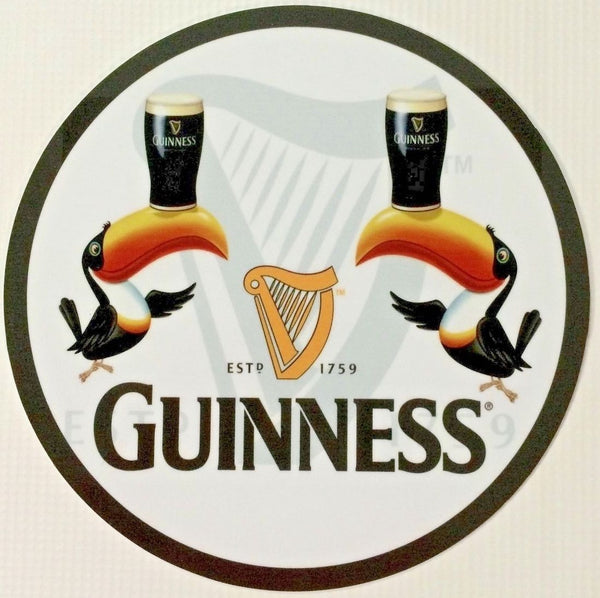 "Guinness Toucan 7"" Round Metal Sign"