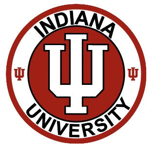 "Indiana University 7"" Round Metal Sign"