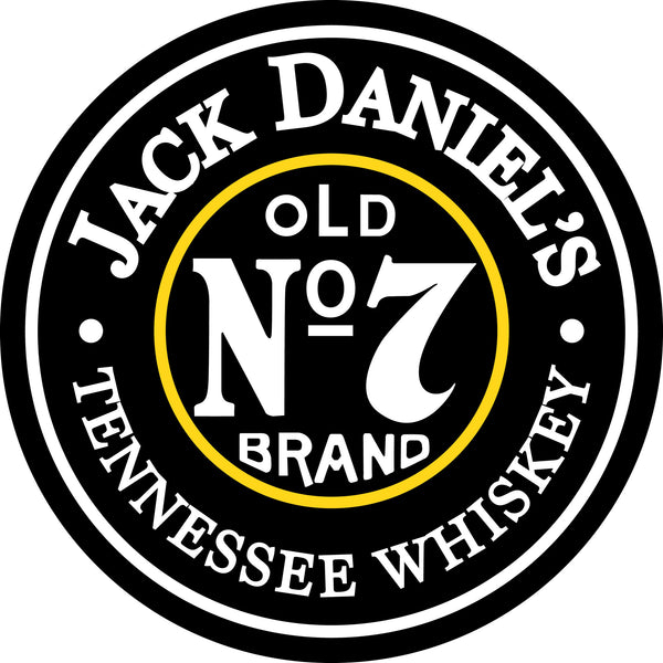 "Jack Daniel's Old No. 7 Round  24"" Metal Sign"