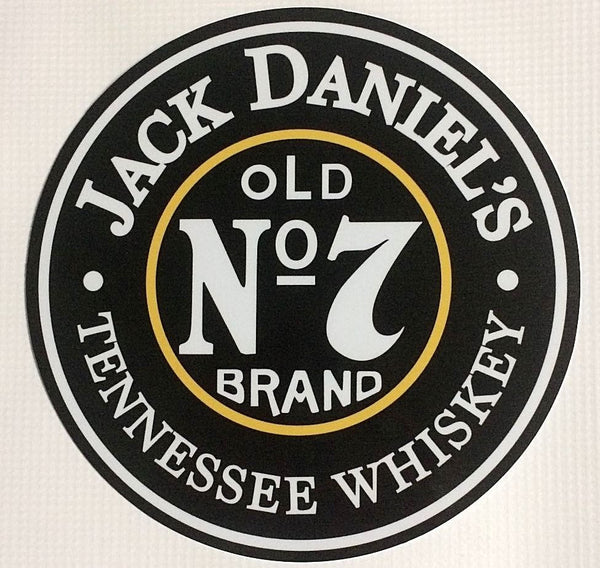 "Jack Daniel's Old No.7 Round 7"" Metal Sign"