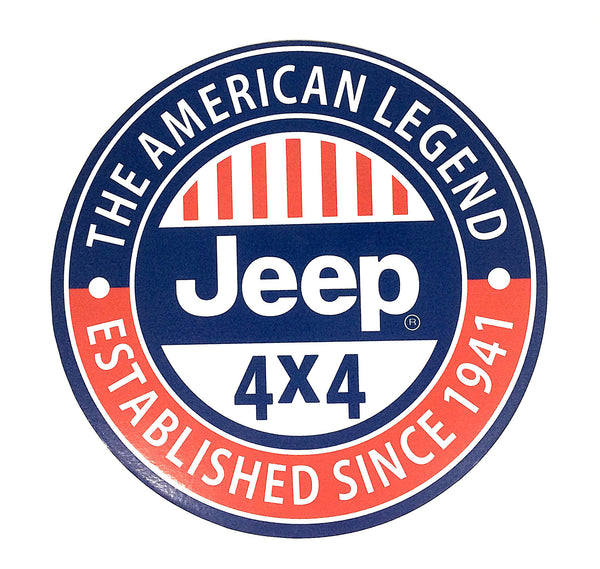 "Jeep 7"" Round Metal Sign"