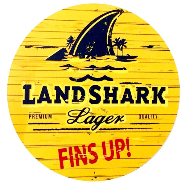 "Landshark  7"" Round Metal Sign"