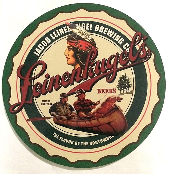 "Leinenkugel's Brewing Co 36"" Round Metal Sign"